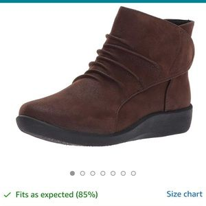 Clark's Genuine Leather Ankle Boots